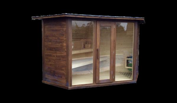 sauna de exterior modelo Toledo