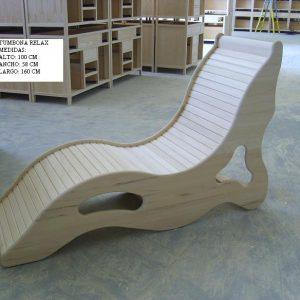 tumbona madera relax sauna